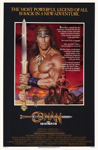 Conan the Destroyer 11 x 17 Movie Poster - Style A - Museum Wrapped Canvas