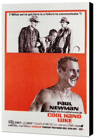 Cool Hand Luke 11 x 17 Movie Poster - Style C - Museum Wrapped Canvas