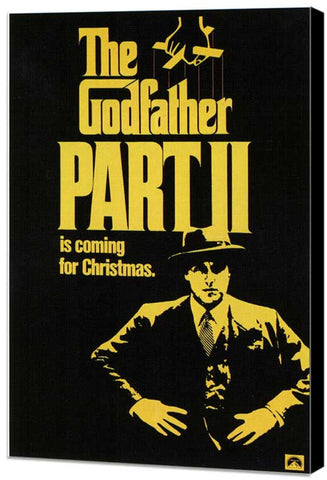 Godfather, Part 2 11 x 17 Movie Poster - Style B - Museum Wrapped Canvas