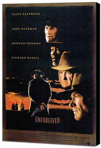 Unforgiven 11 x 17 Movie Poster - Style C - Museum Wrapped Canvas