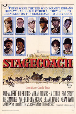 Stagecoach 11 x 17 Movie Poster - Style A - Museum Wrapped Canvas