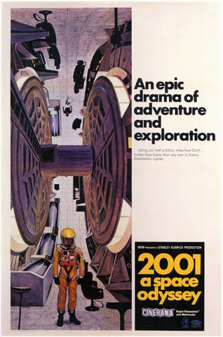2001: A Space Odyssey 11 x 17 Movie Poster - Style E - Museum Wrapped Canvas