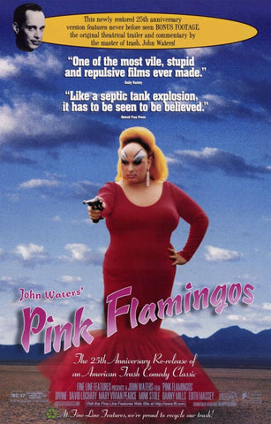Pink Flamingos 11 x 17 Movie Poster - Style A - Museum Wrapped Canvas