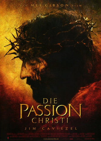 The Passion of the Christ 11 x 17 Movie Poster - German Style A - Museum Wrapped Canvas