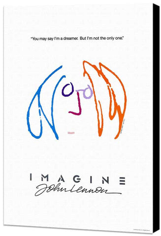 Imagine John Lennon 11 x 17 Movie Poster - Style B - Museum Wrapped Canvas
