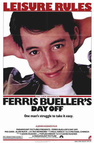 Ferris Bueller's Day Off 11 x 17 Movie Poster - Style B - Museum Wrapped Canvas