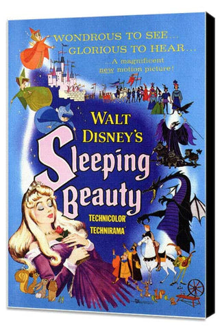 Sleeping Beauty 11 x 17 Movie Poster - Style B - Museum Wrapped Canvas