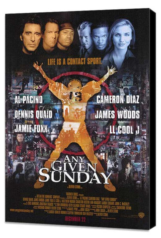 Any Given Sunday 11 x 17 Movie Poster - Style A - Museum Wrapped Canvas