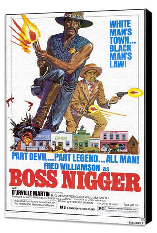 Boss Nigger 11 x 17 Movie Poster - Style A - Museum Wrapped Canvas