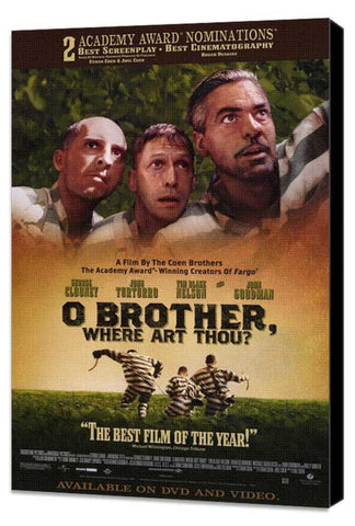O Brother Where Art Thou? 11 x 17 Movie Poster - Style B - Museum Wrapped Canvas