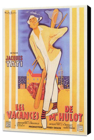 Mr. Hulot's Holiday 11 x 17 Movie Poster - French Style A - Museum Wrapped Canvas