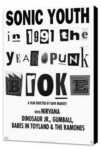 1991: The Year Punk Broke 11 x 17 Movie Poster - Style A - Museum Wrapped Canvas