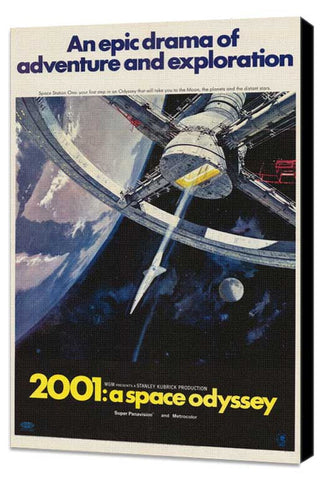 2001: A Space Odyssey 11 x 17 Movie Poster - Style I - Museum Wrapped Canvas