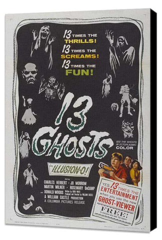 13 Ghosts 11 x 17 Movie Poster - Style B - Museum Wrapped Canvas