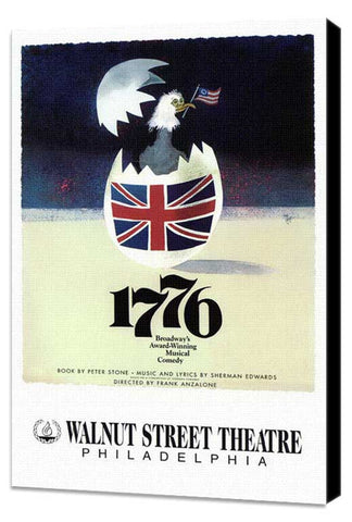 1776 (Broadway) 11 x 17 Poster - Style B - Museum Wrapped Canvas