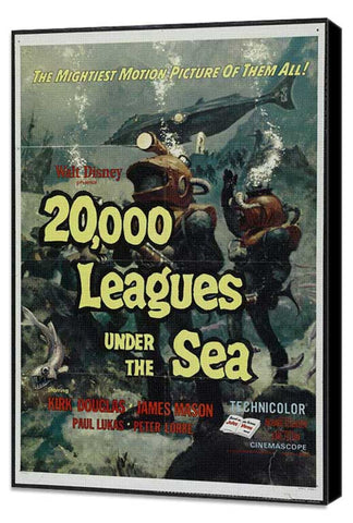 20,000 Leagues Under the Sea 11 x 17 Movie Poster - Style B - Museum Wrapped Canvas