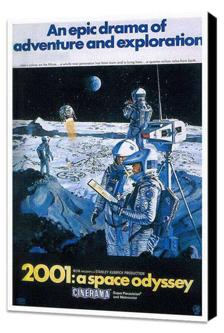 2001: A Space Odyssey 11 x 17 Movie Poster - Style U - Museum Wrapped Canvas