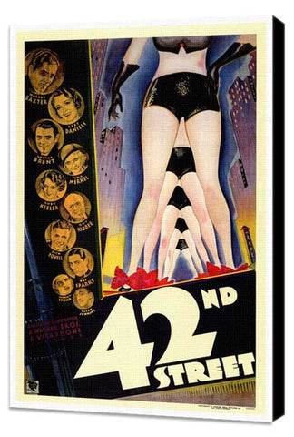 42nd Street 27 x 40 Movie Poster - Style A - Museum Wrapped Canvas