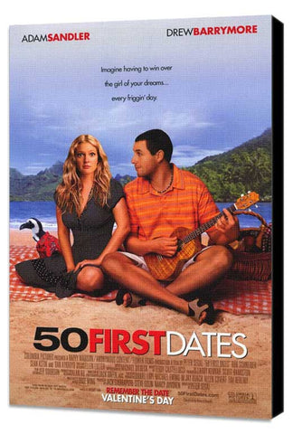 50 First Dates 27 x 40 Movie Poster - Style A - Museum Wrapped Canvas