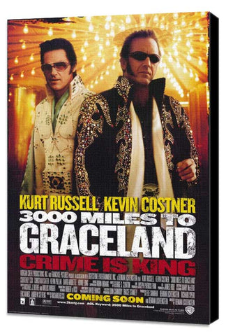 3000 Miles to Graceland 27 x 40 Movie Poster - Style A - Museum Wrapped Canvas