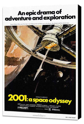 2001: A Space Odyssey 27 x 40 Movie Poster - Style B - Museum Wrapped Canvas