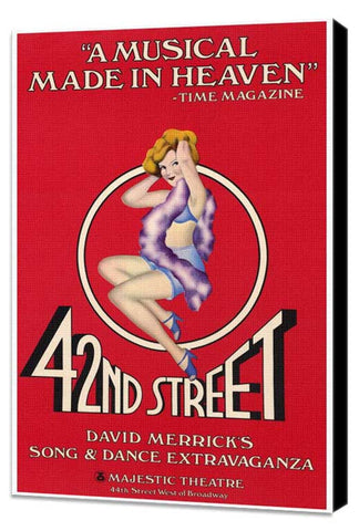 42nd Street (Broadway) 27 x 40 Movie Poster - Style A - Museum Wrapped Canvas