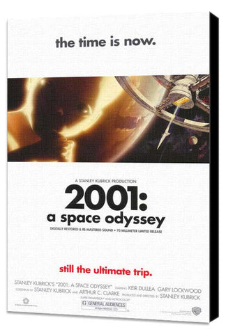 2001: A Space Odyssey 27 x 40 Movie Poster - Style D - Museum Wrapped Canvas
