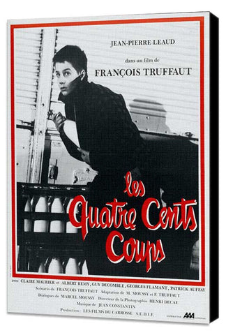 400 Blows 27 x 40 Movie Poster - French Style A - Museum Wrapped Canvas
