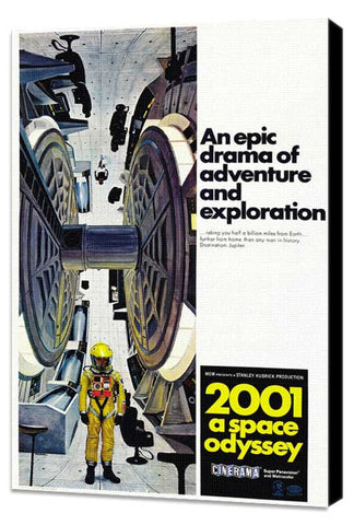 2001: A Space Odyssey 27 x 40 Movie Poster - Style E - Museum Wrapped Canvas