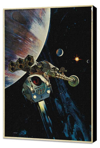 2001: A Space Odyssey 27 x 40 Movie Poster - Style G - Museum Wrapped Canvas