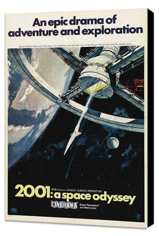 2001: A Space Odyssey 27 x 40 Movie Poster - Style I - Museum Wrapped Canvas