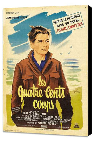 400 Blows 27 x 40 Movie Poster - French Style B - Museum Wrapped Canvas