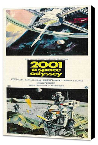 2001: A Space Odyssey 14 x 36 Movie Poster - Insert Style A - Museum Wrapped Canvas