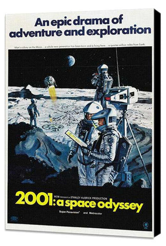 2001: A Space Odyssey 27 x 40 Movie Poster - Style J - Museum Wrapped Canvas