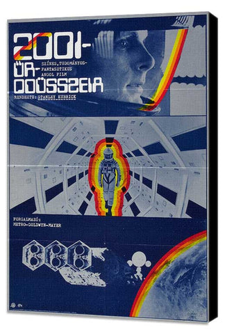 2001: A Space Odyssey 27 x 40 Movie Poster - Hungarian Style A - Museum Wrapped Canvas