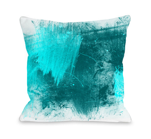 Beautiful Mess - Turquoise Throw Pillow by OBC 18 X 18