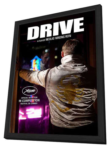 Drive 11 x 17 Movie Poster - Style B - in Deluxe Wood Frame