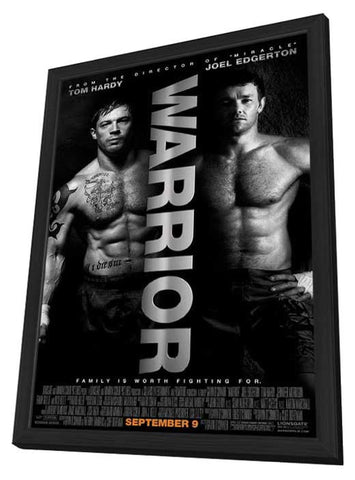 Warrior 11 x 17 Movie Poster - Style D - in Deluxe Wood Frame