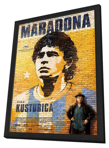 Maradona by Kusturica 11 x 17 Movie Poster - Swedish Style A - in Deluxe Wood Frame