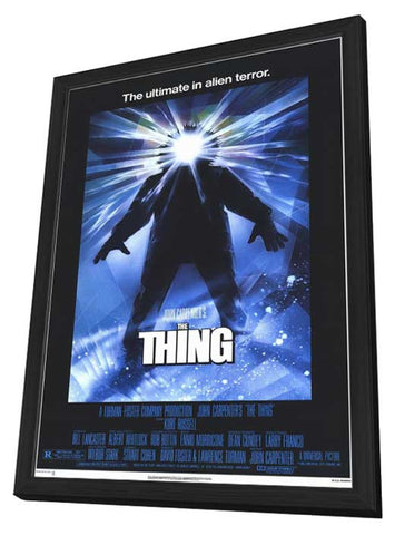 The Thing 11 x 17 Movie Poster - Style A - in Deluxe Wood Frame