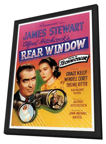Rear Window 11 x 17 Movie Poster - Style G - in Deluxe Wood Frame