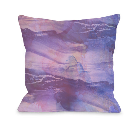 Slowly Drifting - Purple Throw Pillow by OBC 18 X 18