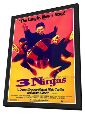 3 Ninjas 11 x 17 Movie Poster - Style A - in Deluxe Wood Frame