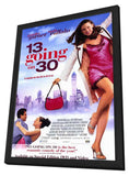 13 Going On 30 11 x 17 Movie Poster - Style B - in Deluxe Wood Frame