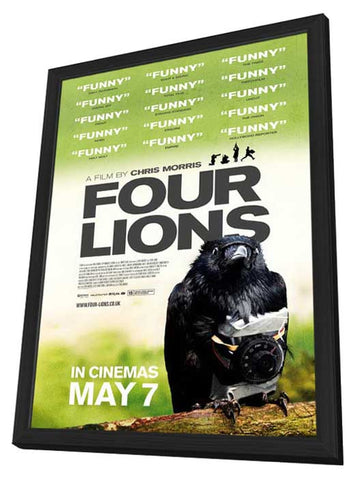 Four Lions 11 x 17 Movie Poster - UK Style A - in Deluxe Wood Frame