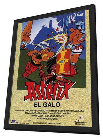 Asterix the Gaul 11 x 17 Movie Poster - Spanish Style A - in Deluxe Wood Frame
