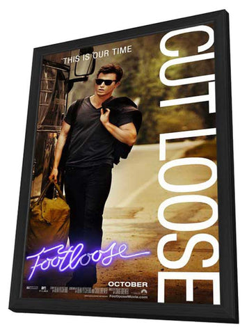 Footloose 11 x 17 Movie Poster - Style C - in Deluxe Wood Frame