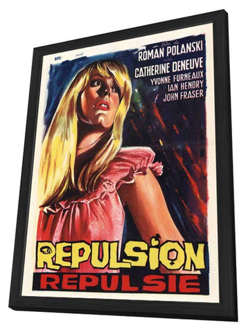 Repulsion 11 x 17 Movie Poster - Belgian Style A - in Deluxe Wood Frame