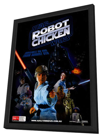 Robot Chicken: Star Wars 11 x 17 Movie Poster - Australian Style A - in Deluxe Wood Frame