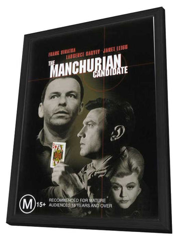 The Manchurian Candidate 11 x 17 Movie Poster - Style D - in Deluxe Wood Frame